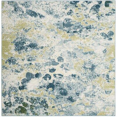 Seyler Beige/Blue Area Rug Rug Size: Square 67