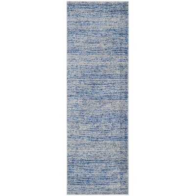 Millbrae Blue/Gray Area Rug Rug Size: Runner 26 x 8