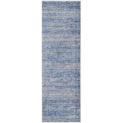 Schacher Blue/Silver Area Rug Rug Size: Runner 26 x 8