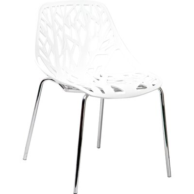 Salazar Side Chair (Set of 2) Finish: White