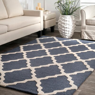 Terina Moroccan Trellis Kilim Charcoal Area Rug Rug Size: Rectangle 6 x 9