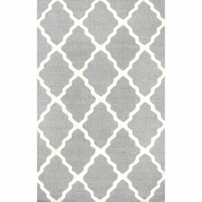 Tadlock Hand-Woven Gray Area Rug Rug Size: Rectangle 36 x 56