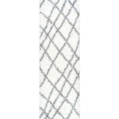 Collett White Area Rug Rug Size: Runner 28 x 8
