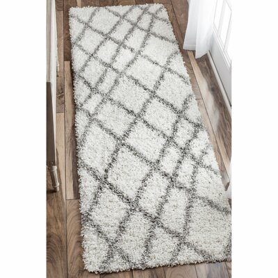 Collett White Area Rug Rug Size: Rectangle 53 x 76