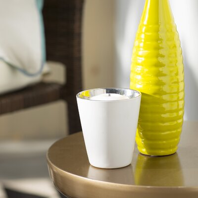 Ceramic Votive Cup Color: Silver VKGL6804 34272562