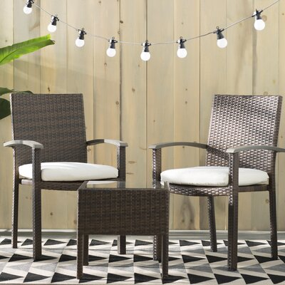 Seaport Contemporary 3-Piece Seating Set