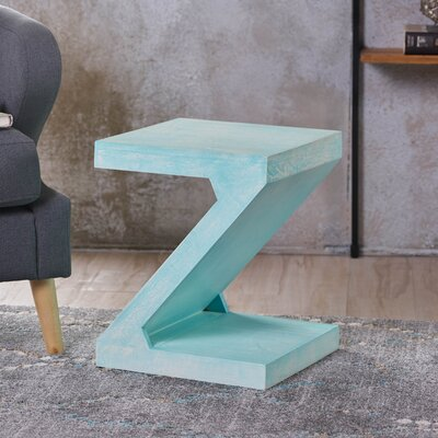 Wiest Wood End Table Color: Blue