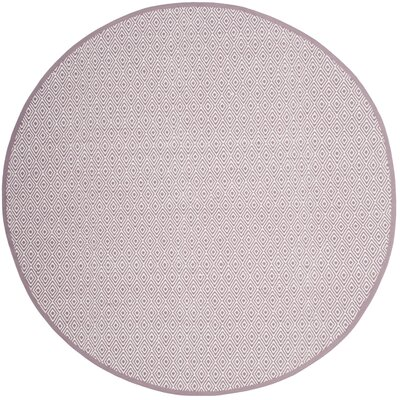 Sessums Hand-Woven Gray/Purple Area Rug Rug Size: Round 4