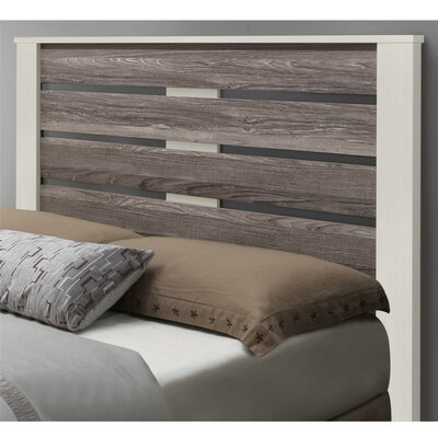 Chicopee Panel Headboard Color: Vintage White, Size: Queen
