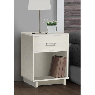 Chicopee Wood 1 Drawer Nightstand Finish: Vintage White