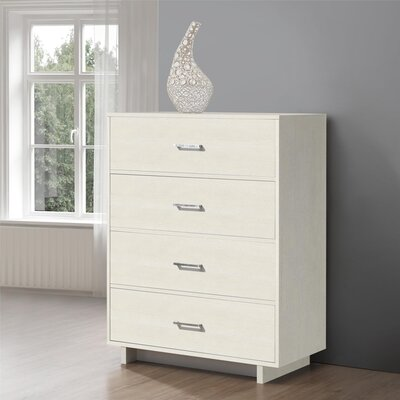 Chicopee Modern 4 Drawer Chest Color: Vintage White