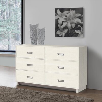 Chicopee Modern 6 Drawer Dresser Color: Vintage White