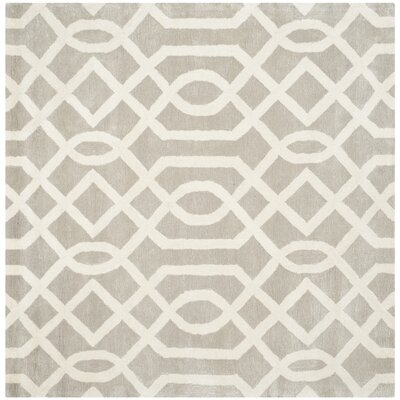 Schaub Grey/Ivory Area Rug Rug Size: Square 6
