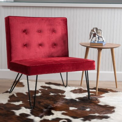 Balderrama Slipper Chair Upholstery: Berry