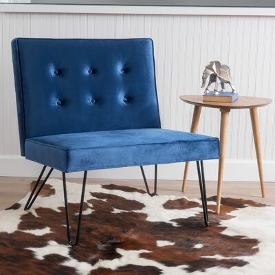 Balderrama Slipper Chair Upholstery: Navy Blue