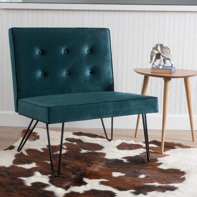 Balderrama Slipper Chair Upholstery: Teal
