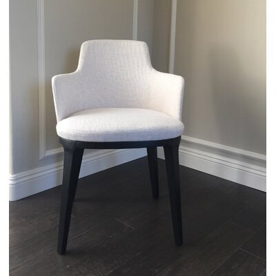Mcalexander Contemporary Arm Chair with Wooden Legs