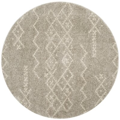 Amicus Brown Area Rug Rug Size: Round 67