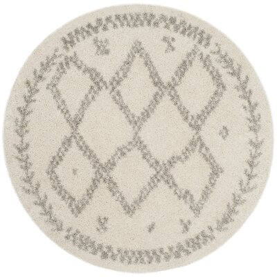Amicus Beige/Gray Area Rug Rug Size: Round 6'7''