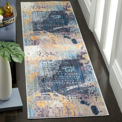 Cumbernauld Blue/Orange Area Rug Rug Size: Runner 23 x 8