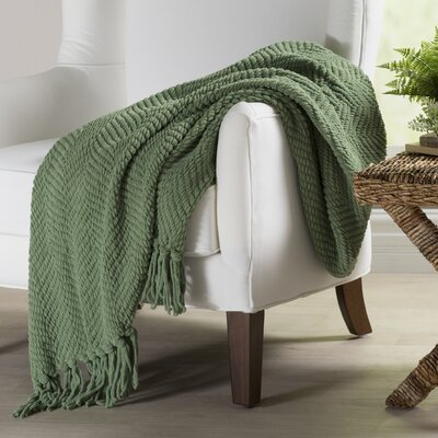 Nader Tweed Knitted Throw Blanket Color: Green Eyes