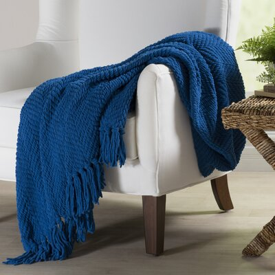 Nader Tweed Knitted Throw Blanket Color: Snorkel Blue