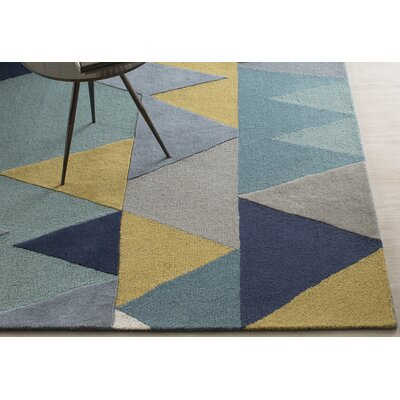 Nida Hand-Tufted Blue Area Rug Rug Size: Rectangle 4 x 6