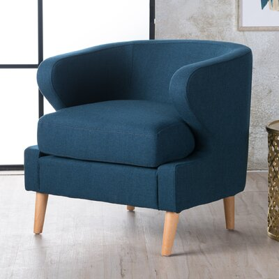 Chambers Barrel Chair Upholstery : Navy Blue