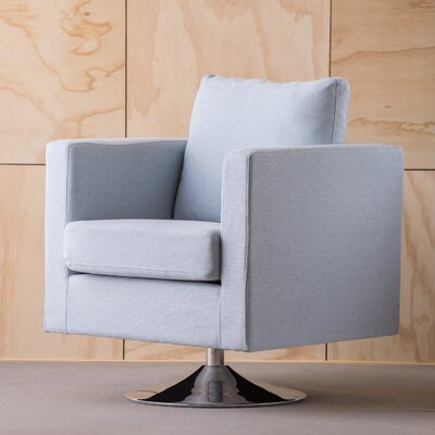 Elsmere Swivel Arm Chair Upholstery: Light Sky