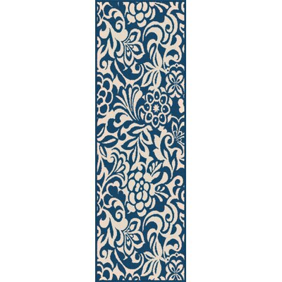 Barnsley Navy Indoor/Outdoor Area Rug Rug Size: Runner 27 x 73