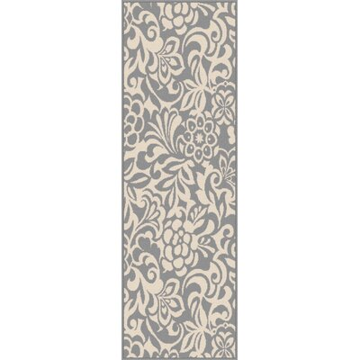 Gorton Gray Indoor/Outdoor Area Rug Rug Size: Runner 27 x 73