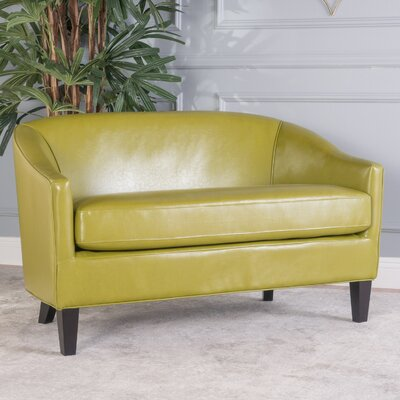 Elmore Loveseat Upholstery: Leather - Green