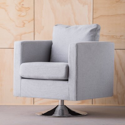 Elsmere Fabric Swivel Club Chair Upholstery: Light Gray