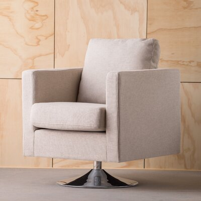 Elsmere Swivel Arm Chair Upholstery: Cream