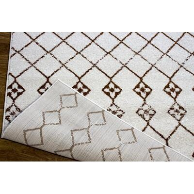 Nde Transitional Ivory/Brown Area Rug Rug Size: 33 x 47