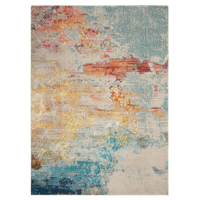 Shugart Sealife Area Rug Rug Size: Rectangle 67 x 97