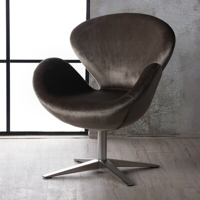 Broaddus Swivel Armchair Upholstery: Gray