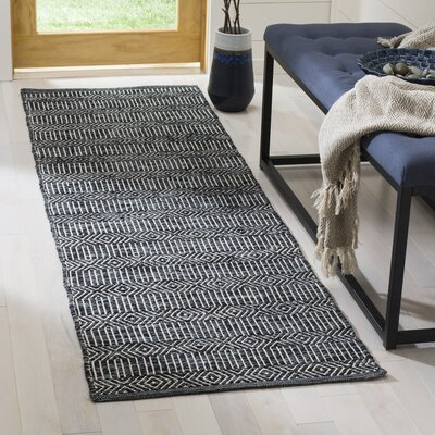 Shevchenko Place Hand-Woven Black / White Area Rug Rug Size: 3 x 5