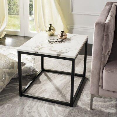 Crespin End Table Table Top Color : Gray