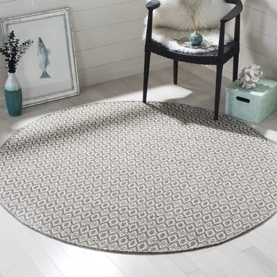 Whobrey Hand Woven Ivory/Gray Area Rug Rug Size: Rectangle 3' x 5'