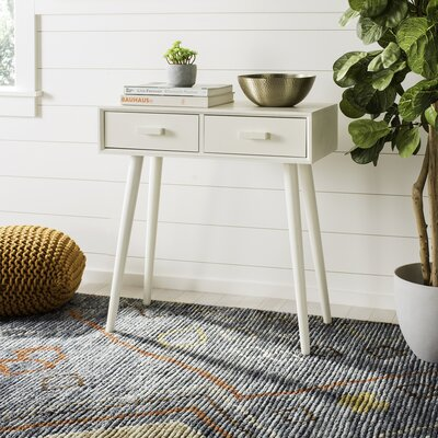 Crepeau 2 Drawer Console Table Finish: White