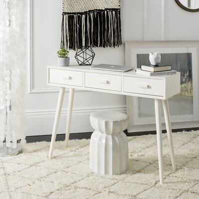 Cremeans 3 Drawer Console Table Finish: White