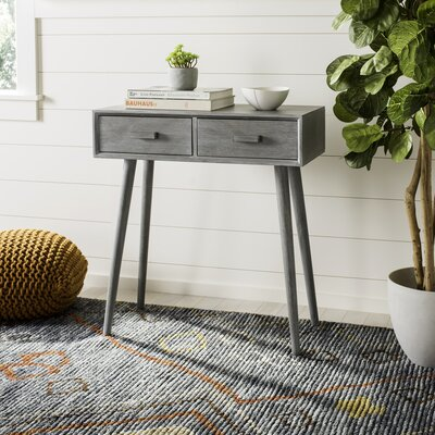 Crepeau 2 Drawer Console Table Finish: Gray