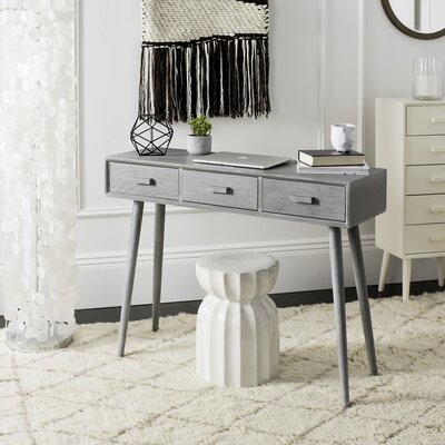 Cremeans 3 Drawer Console Table Finish: Gray