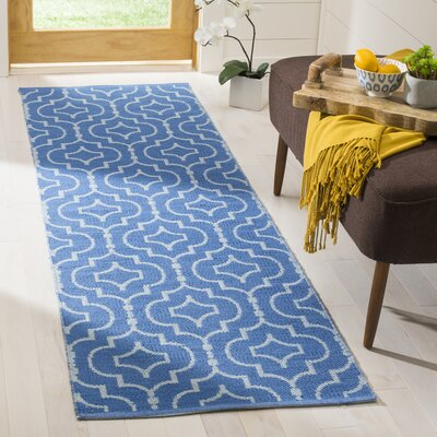 Rennie Hand-Woven Blue/Ivory Area Rug Rug Size: 3 x 5