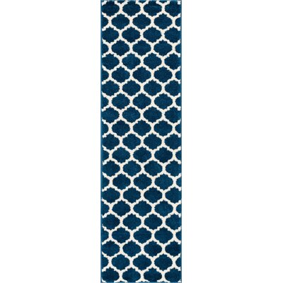 Rubino Blue Area Rug Rug Size: Runner 2 x 73