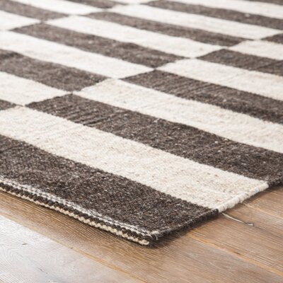 Campbelltown Ivory & Black Area Rug Rug Size: Rectangle 8 x 10