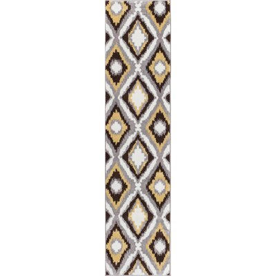 Patton Geometric Area Rug Rug Size: Runner 18 x 7