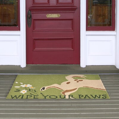 Seavey Hand-Tufted Green Indoor/Outdoor Area Rug Rug Size: 2 x 3