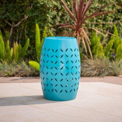 Patchen Iron Side Table Color: Blue